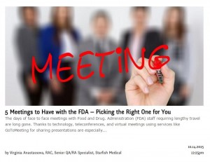 5 Meetings to Have with the FDA — Picking the Right One for You
