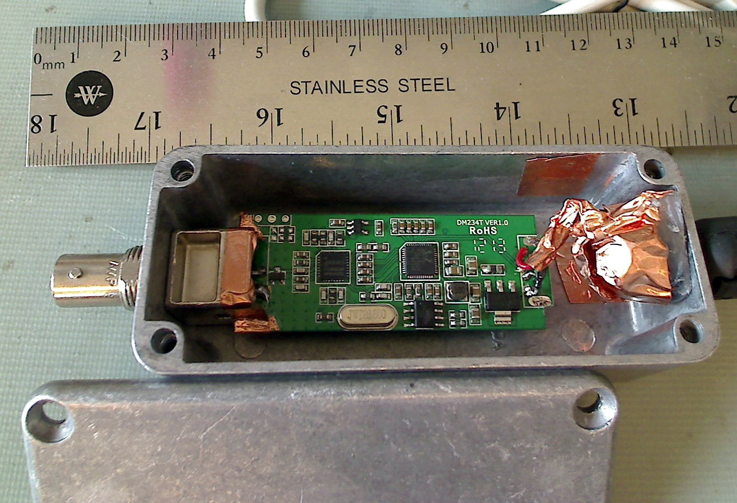 Figure 4 EMC Receiver built around RTL2832 Tuner USB Dongle