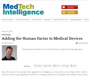 MEDdesign Adding the Human Factor to Medical Devices
