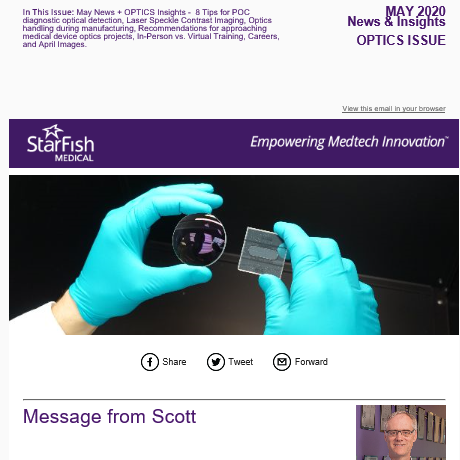 StarFish Medical May 2020 Medtech Optics Issue is now online