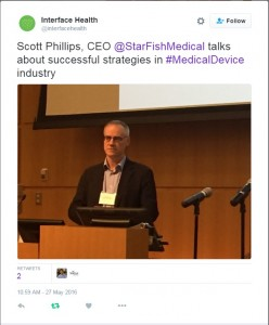 Scott keynotes at Innovation in Health Research and Technologies Strategies for Successful Partnerships