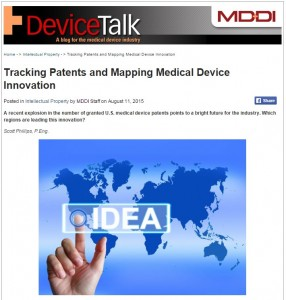 Tracking Patents and Mapping Medical Device Innovation