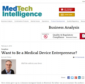 Want to Be a Medical Device Entrepreneur - MDDI
