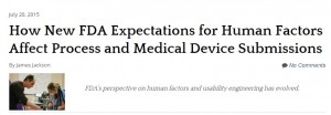 FDA Expectations for Human Factors