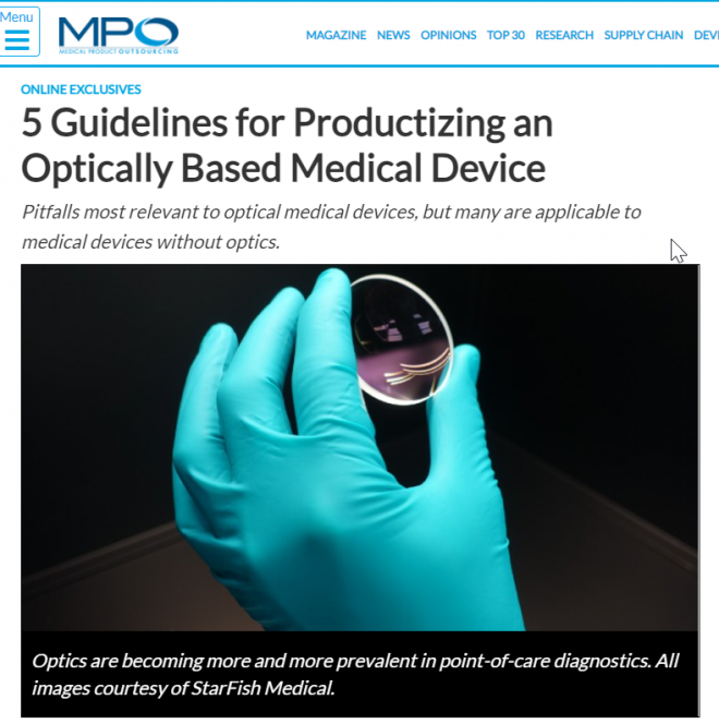 MPO: 5 Guidelines for Productizing an Optically Based Medical Device