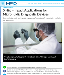 5 High-Impact Applications for Microfluidic Diagnostic Devices