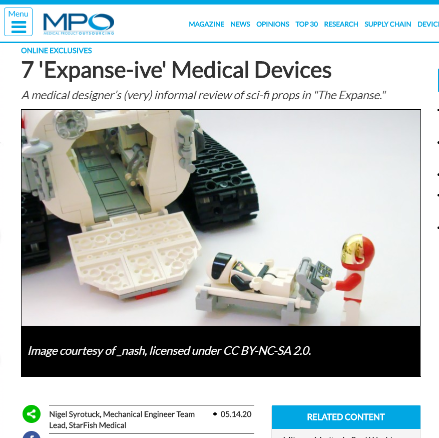 MPO Exclusive: 7 'Expanse-ive' Medical Device