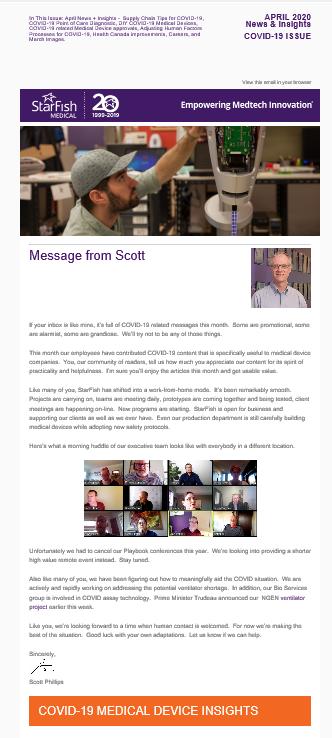 April 2020 Medtech News + Insights