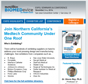 StarFishMedical at BIOMEDdevice San Jose 2014