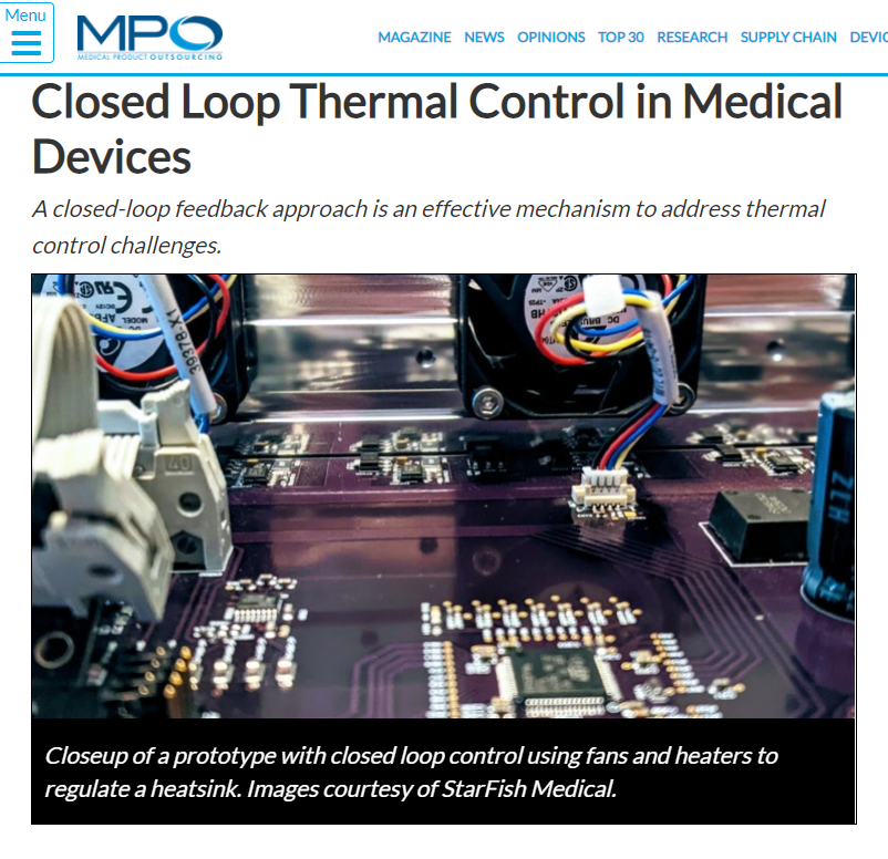 MPO: Closed Loop Thermal Control in Medical Device
