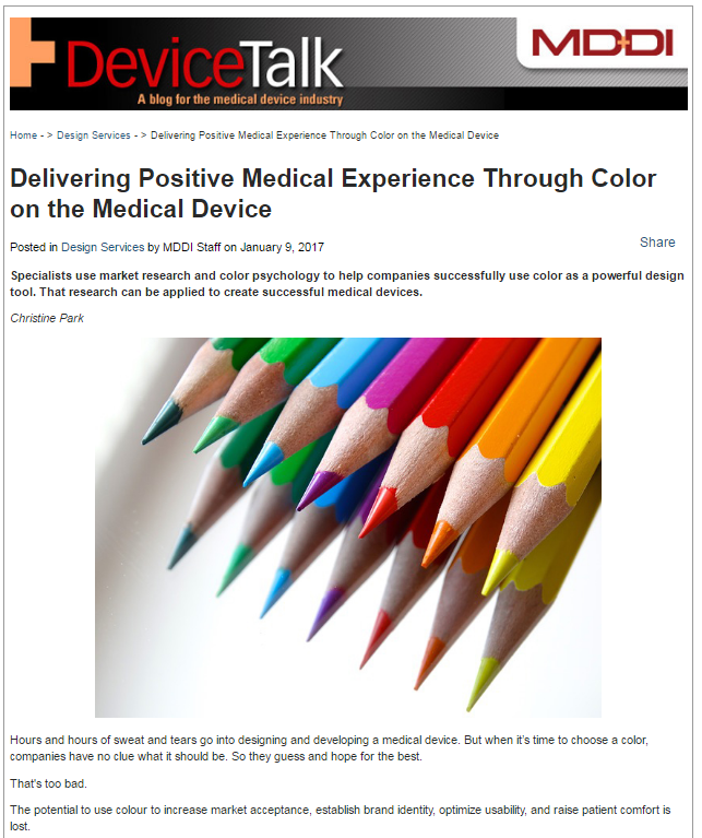 color-on-the-medical-device