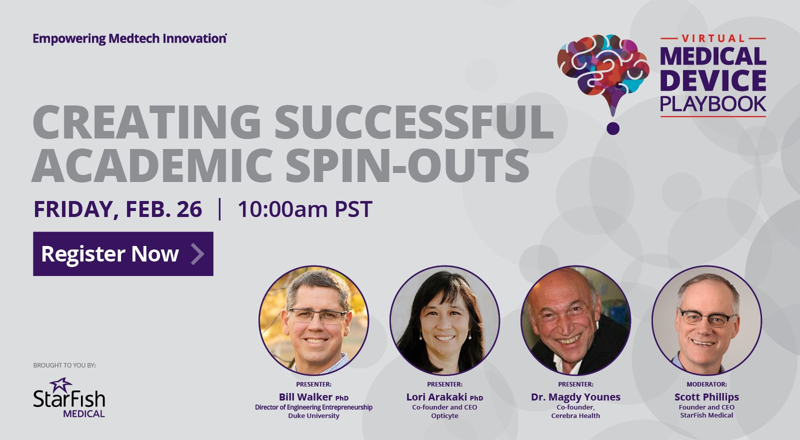 Creating a Successful Academic Spin-Out – Free Webinar