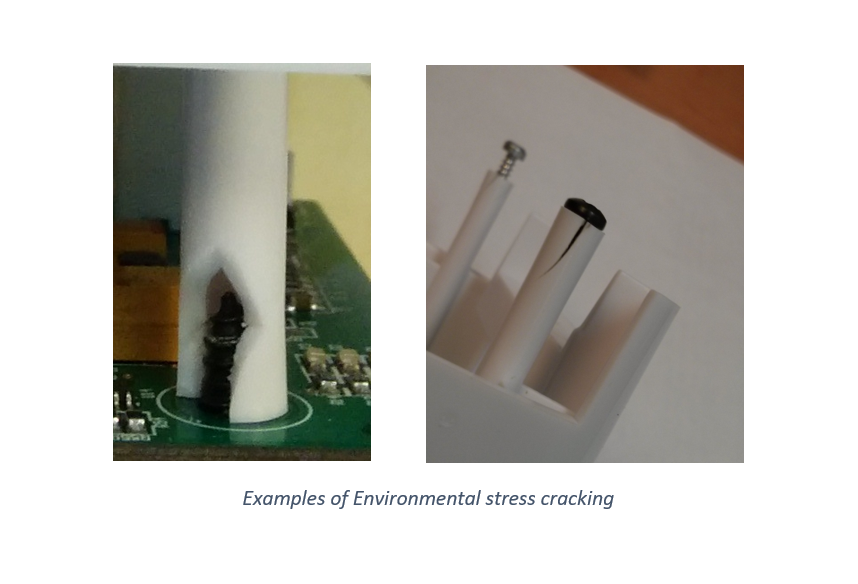 Examples of Environmental stress cracking