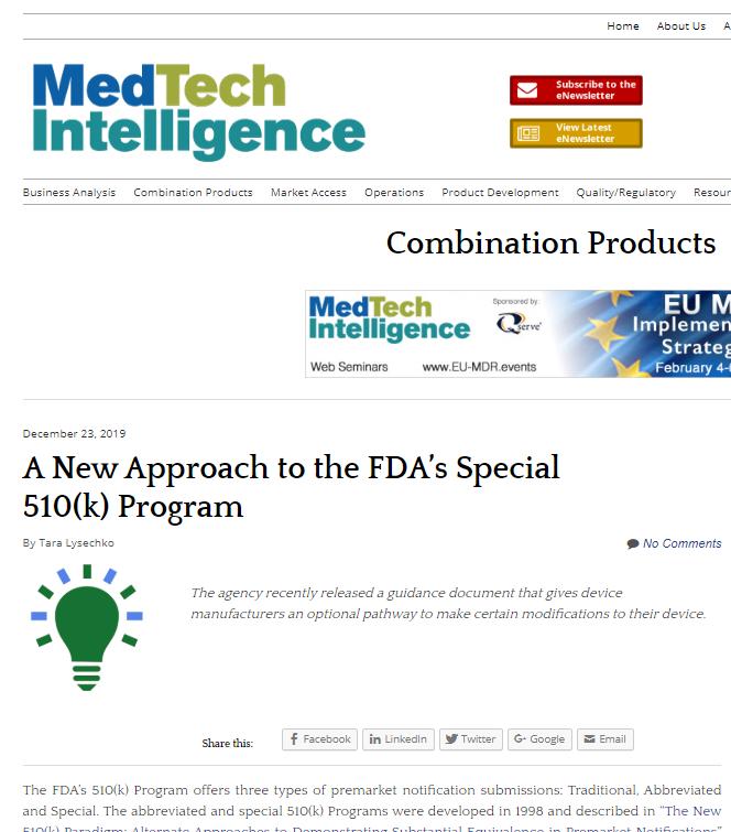 FDA's Special 510(k) Program