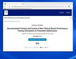 Non-Clinical Bench Performance Testing Information