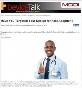 Design for Fast Adoption