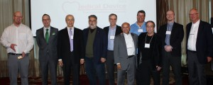 Doug Goertzen (Karidum), Paul Drohan (LSBC), and speakers Awni Ayoubi (Rostrum), Michael Baker (Due North), Scott Phillips, Ramgopal Rao (LensGen), Paul Geyer (LightIntegra), Steve Arless (Medius International), John Walmsley, and Larry Spears (Former Deputy Director FDA/CDRH Office of Compliance and FDA Investigations)