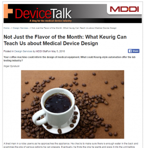MD+DI Keurig Medical Design