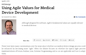 Agile Values for Medical Device