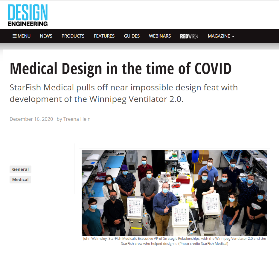 DESIGN ENGINEERING: Medical Design in the time of COVID