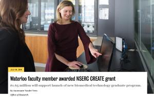 NSERC CREATE grant