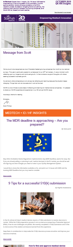 October Medtech News and Insights