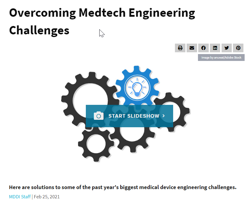 MD+DI Overcoming Medtech Engineering Challenge