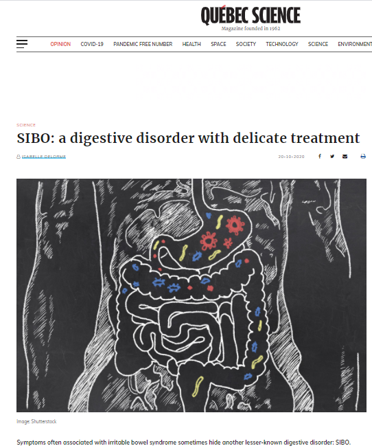 Quebec Science – SIBO: a digestive disorder