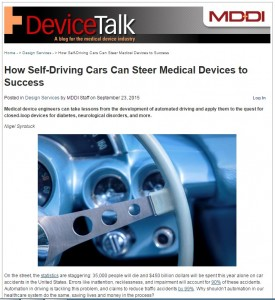 Self-Driving Cars Can Steer Medical Devices