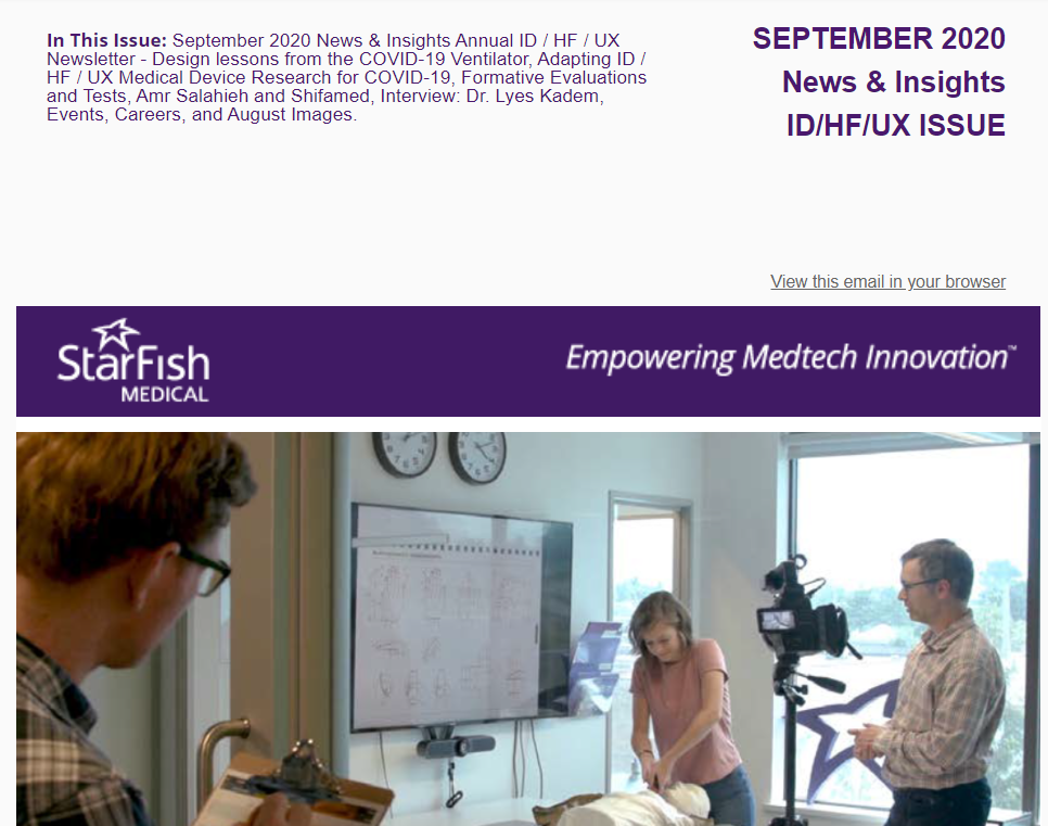 ID HF UX Newsletter -September 2020 News & Insight