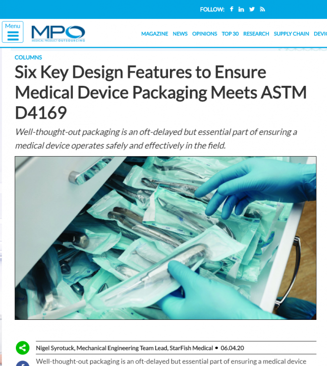 MPO: Six Key Design Features to Ensure Medical Device Packaging Meets ASTM D4169