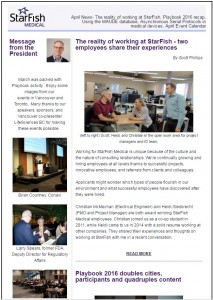 StarFish Medical April Newsletter