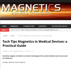 Magnetics in Medical Devices