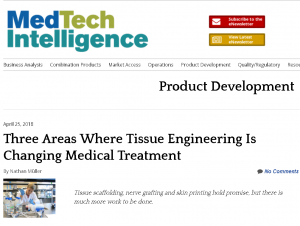 MedTech Intelligence features Three Areas Where Tissue Engineering Is Changing Medical Treatment by StarFish Medical Mechanical Engineer, Nathan Müller.