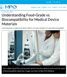 Food-Grade vs. Biocompatibility