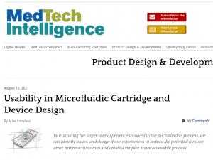 Usability in Microfluidic Cartridge and Device Design