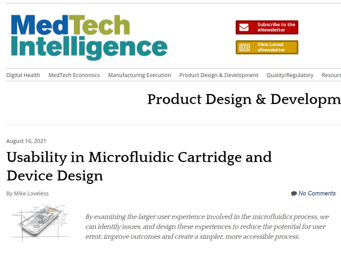 MTI: Usability in Microfluidic Cartridge and Device Desig