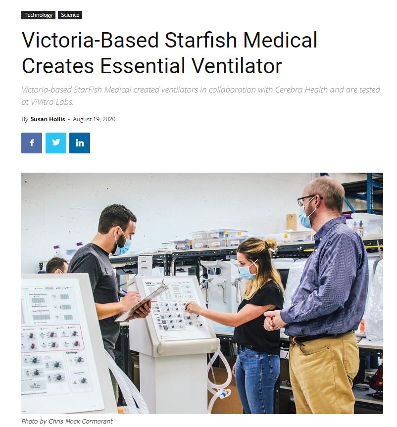 Victoria-Based Starfish Medical Creates Essential Ventilator
