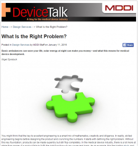 What is the right problem MD+DI