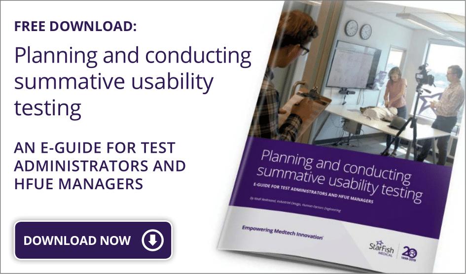 summative usability testing eGUIDE