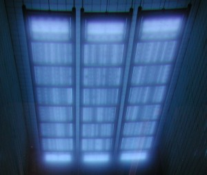 Cobalt 60 gamma radiation source rack